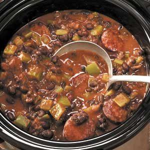 Creole Black Beans 'n' Sausage