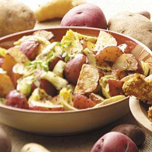 Roasted Potatoes and Artichokes