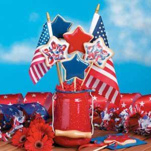 Patriotic Cookie Bouquets