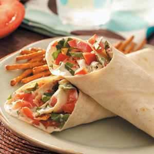 Garden Vegetable Wraps