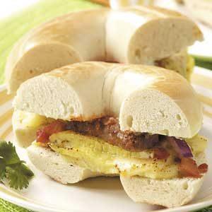 Sausage Omelet Bagels