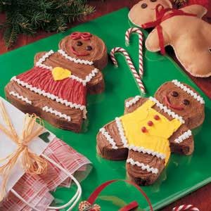 Gingerbread Boy and Girl Cakes
