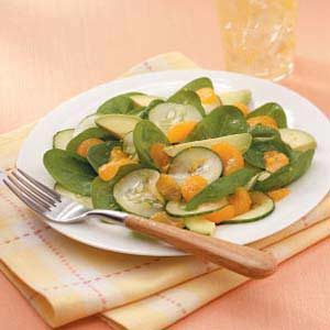 Avocado-Orange Spinach Toss