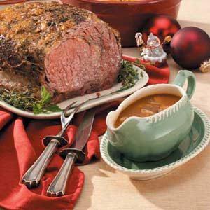 Rib Roast with Madeira Gravy