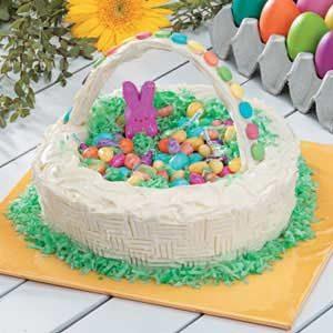 Easter Basket Candy Cake