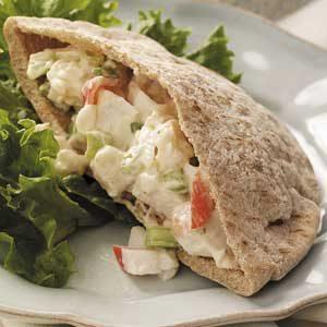 Seafood Salad Pitas