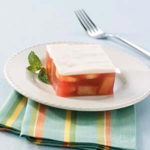 Frosted Fruit Gelatin Dessert