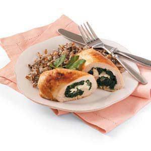 Spinach Chicken Roll