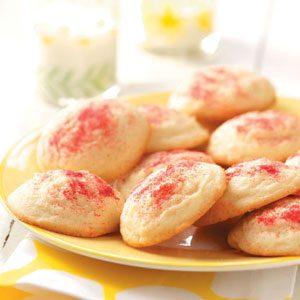 Raspberry Sparkle Drop Cookies