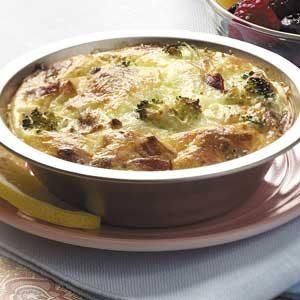 Broccoli Bacon Quiches