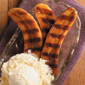 Honey-Rum Grilled Bananas