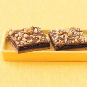 Fudge-Filled Brownie Bars