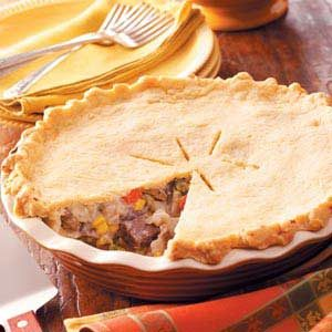 Pepper, Onion and Beef Potpie