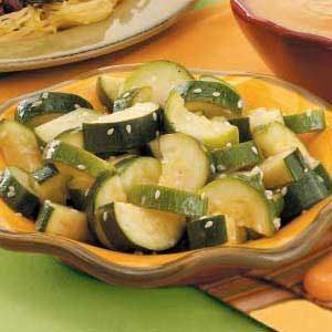 Sesame Steamed Zucchini