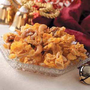 Mixed Nut-Cornflake Brittle