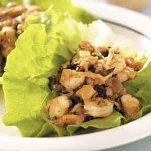 Shrimp 'n' Mushroom Lettuce Wraps