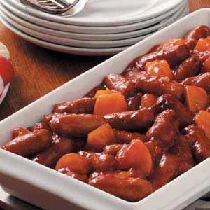 Sweet-and-Sour Sausages