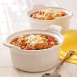 Cheese-Topped Vegetable Soup