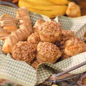 Banana Brickle Muffins