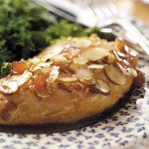 Almond Chicken with Apricot Sauce