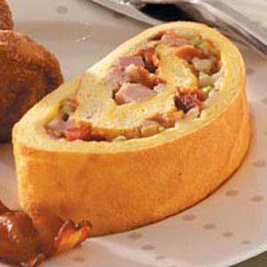 Meat Lover's Omelet Roll