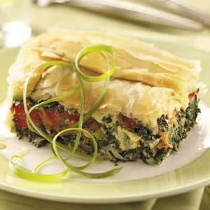 Spinach-Tomato Phyllo Bake