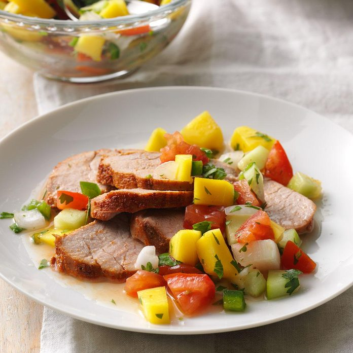 July 31: Pork Tenderloin with Mango Relish