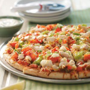 Salsa Chicken Fajita Pizza