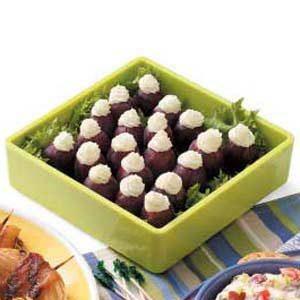Lemon Cream-Stuffed Grapes