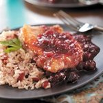 Cranberry Pork Chops with Rice