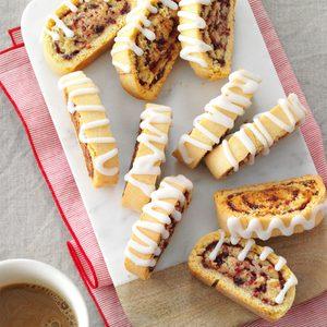 Cranberry Swirl Biscotti