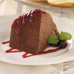 Chocolate Mousse with Cranberry Sauce