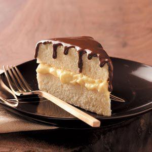 Lighter Boston Cream Pie