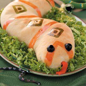 Sausage-Stuffed Slithery  Snakes