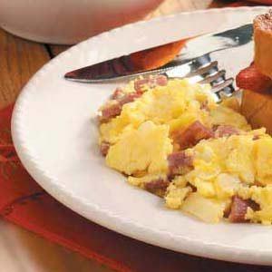 Salami Scrambled Eggs