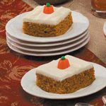 Pumpkin Spice Sheet Cake with Cream Cheese Frosting