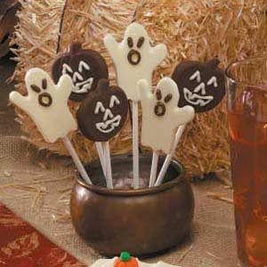 Halloween Chocolate Lollipops