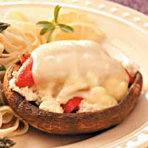 Crab-Stuffed Portobellos