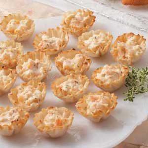 Tempting Shrimp Phyllo Tarts