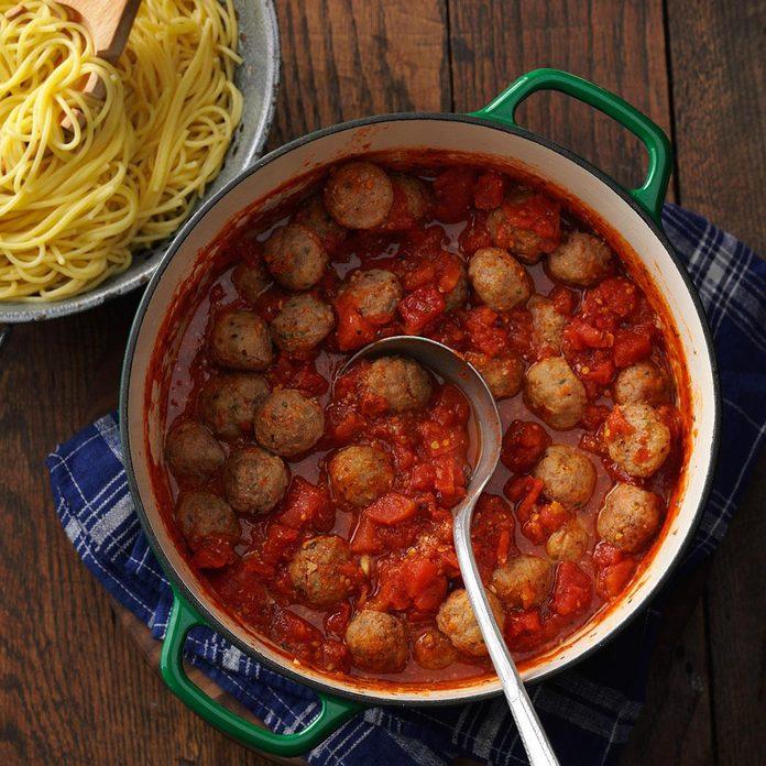 Inspired by: BRAVO Cucina Italiana's Spaghettini + Meatballs
