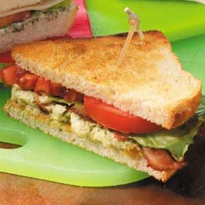 BLTs with Raisin-Avocado Spread