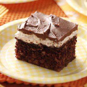 Frosted Chocolate Marshmallow Cake