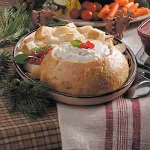 Clam Fondue in a Bread Bowl