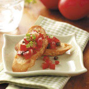 Caesar Salsa Baguette Slices