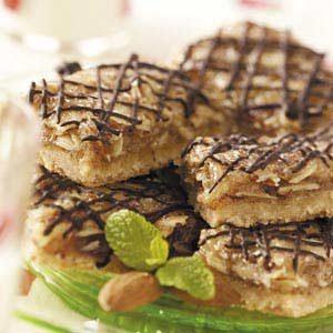 Chocolate-Glazed Almond Bars