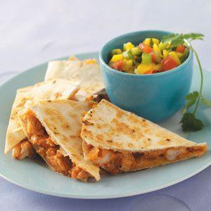 Barbecued Chicken Quesadillas