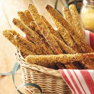 Parmesan Pretzel Rods