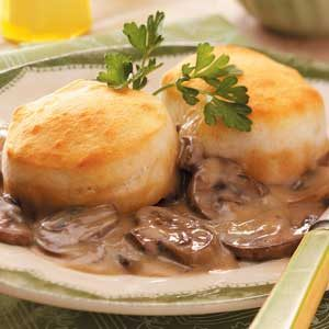 Biscuit Mushroom Bake