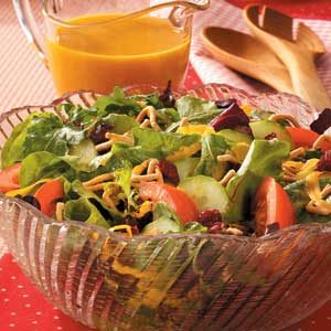 Tossed Salad with Carrot Dressing