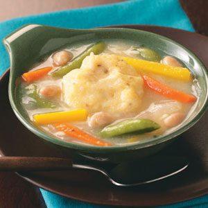 Vegetable Dumpling Soup